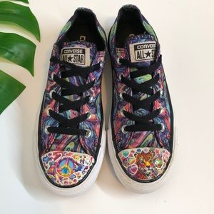 Converse- Lisa Frank Inspired psychedelia shoes